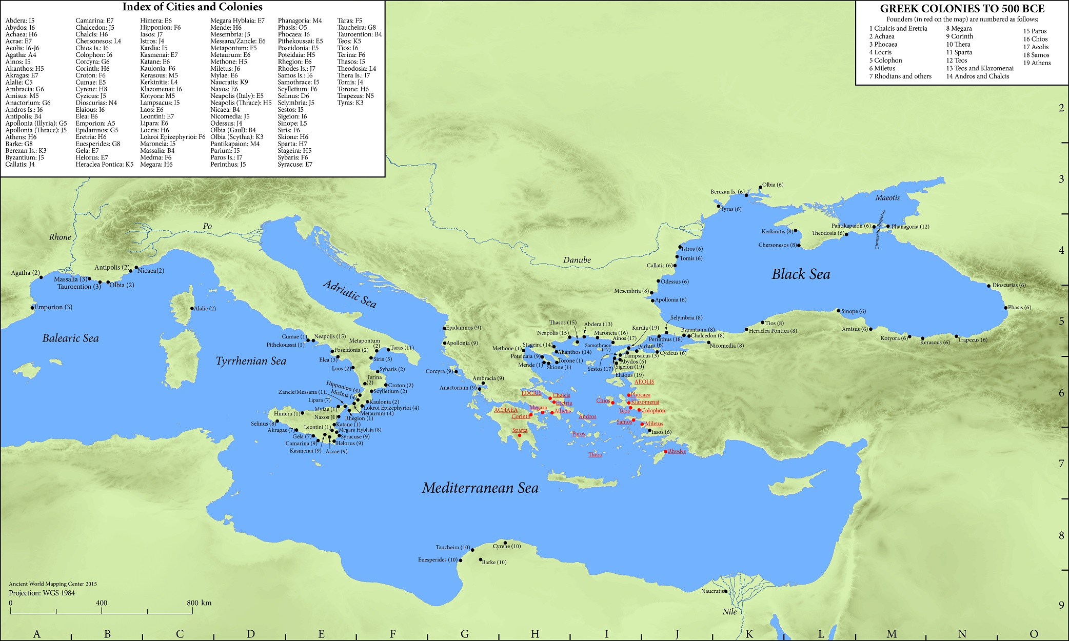 Map: Greek Colonies to 500 BCE - Oxford Clical Dictionary on map language, map world, map jokes, map google, map math,